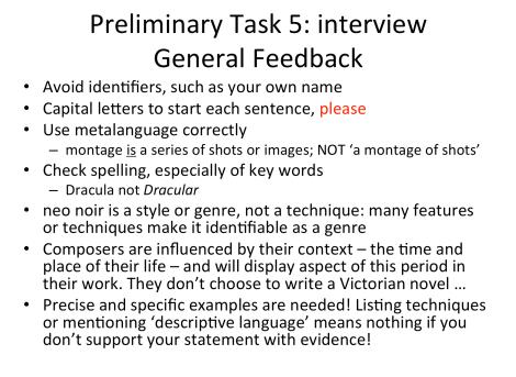 general feedback