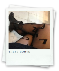 These Boots: my legs