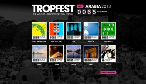 Tropfest homepage