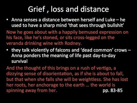 grief, loss and distance