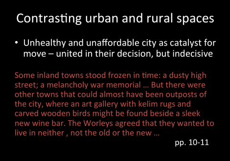 urban and rural