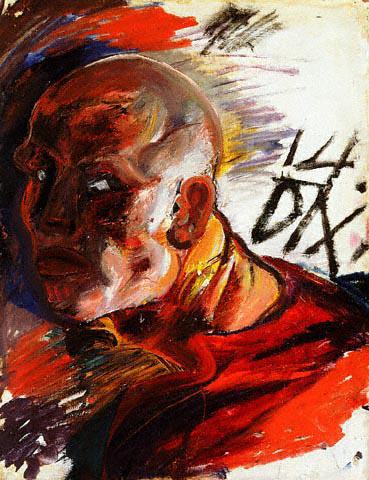 Otto Dix self portrait 1914