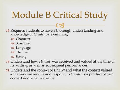 Mod B Critical Study