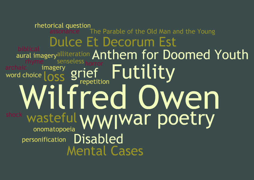 essay on wilfred owen war poems How does it differ from the other war poems you have already read in strange meeting, there is an  we will write a custom essay sample on strange meeting by wilfred owen specifically for you for only $1638 $139/page  we will write a custom essay sample on strange meeting by wilfred owen specifically for you for only $1638 $139/page.