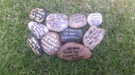 Moss Vale High School poem stones