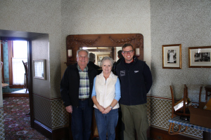 David and Toni Bernadi (President of Valley Guild) in Steinbeck's living room