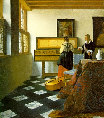 The Music Lesson Vermeer 1665