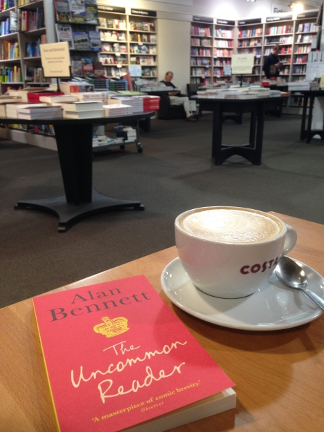 coffee at Waterstones with Alan Bennett