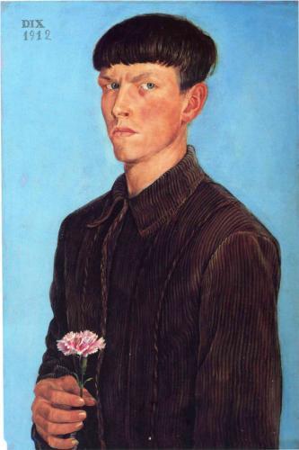 otto-dix-self-portrait1912