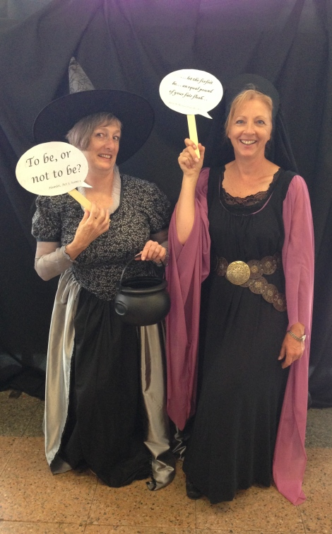 Hecate and Lady Macbeth welcome you to the photo booth