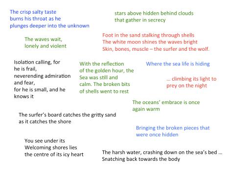 the surfer poem analysis